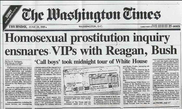 Washington Times Callboy Ring